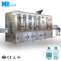 700BPH 3L-10L PET Bottle washing filling capping machine