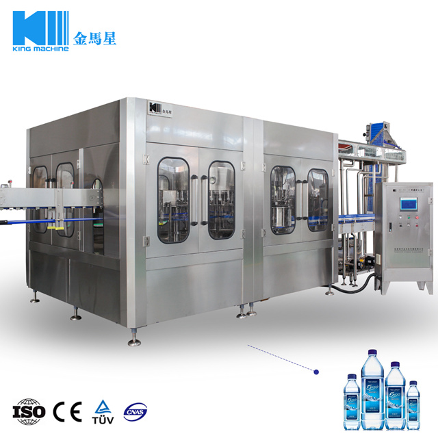 Full Automatic Bottled Soda Drink Water Filling Production